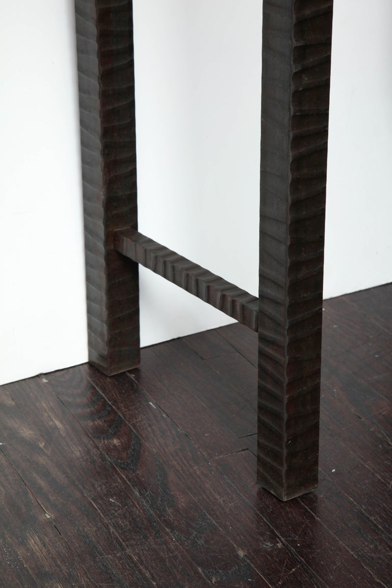 Contemporary Embossed Edelman Leather Shagreen Console For Sale