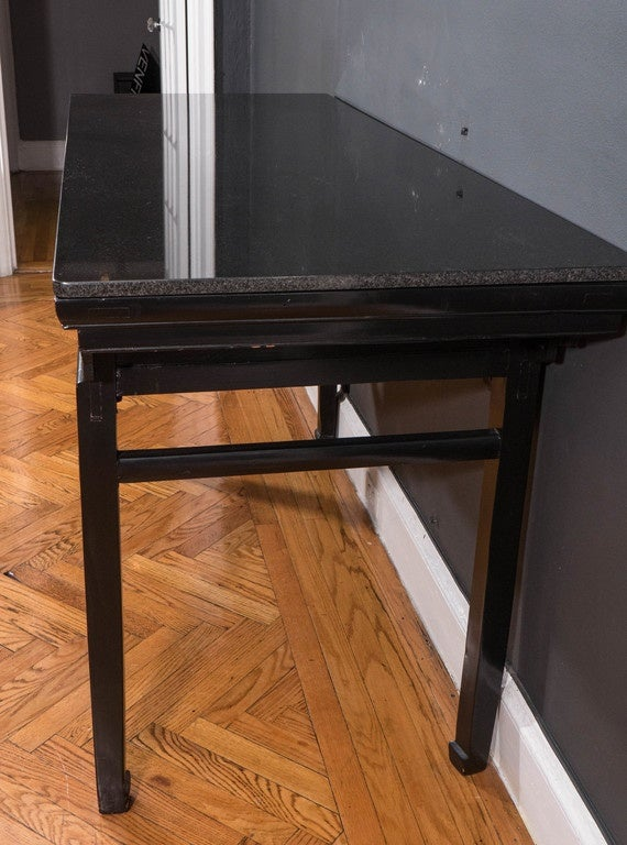 19th Century Black Lacquer Chinese Alter Table 8