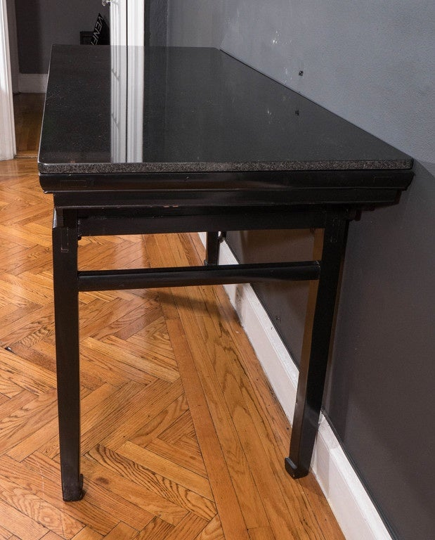 19th Century Black Lacquer Chinese Alter Table 9