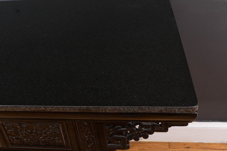 19th Century Black Lacquer Chinese Alter Table 10