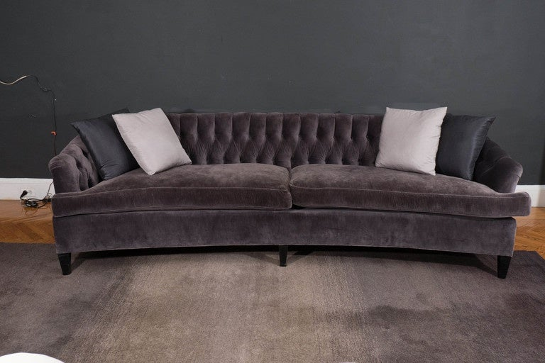 Hollywood Regency Tufted Sofa At 1stdibs