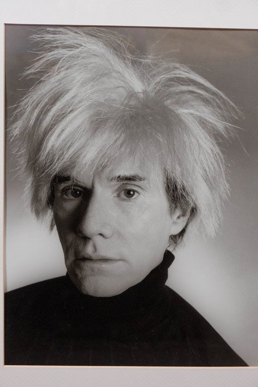 American Vintage Christopher Makos Photo of Andy Warhol in Red Shadowbox Frame For Sale