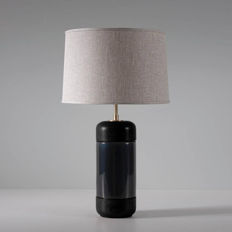 Stone and Sawyer Walnut and Ceramic Table Lamp 2