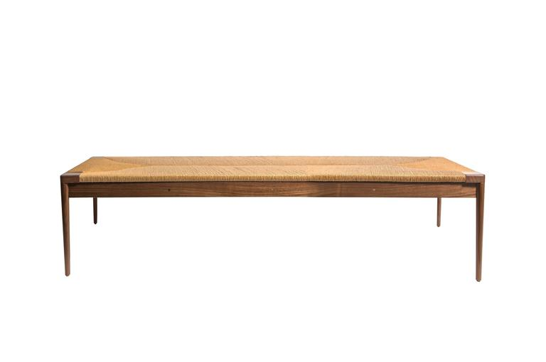American Rush and Walnut Daybed by Smilow Furniture For Sale