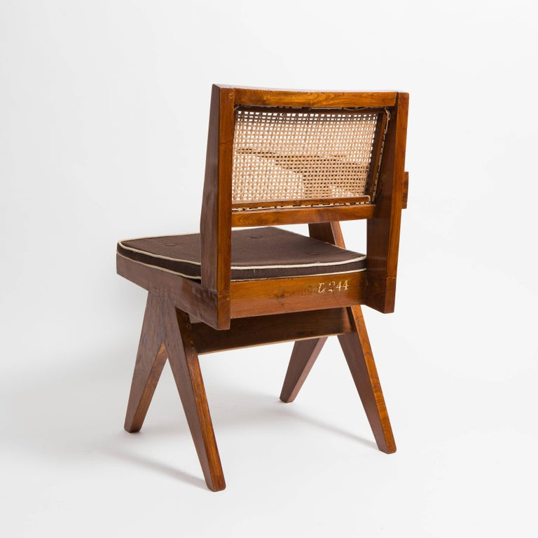 Mid-20th Century Desk Chair by Pierre Jeanneret for Punjab University For Sale