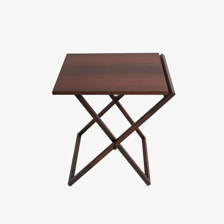 Set of Three Rosewood Tables Stored in Side Table, Illum Wikkelso Silkborg In Good Condition For Sale In New York, NY