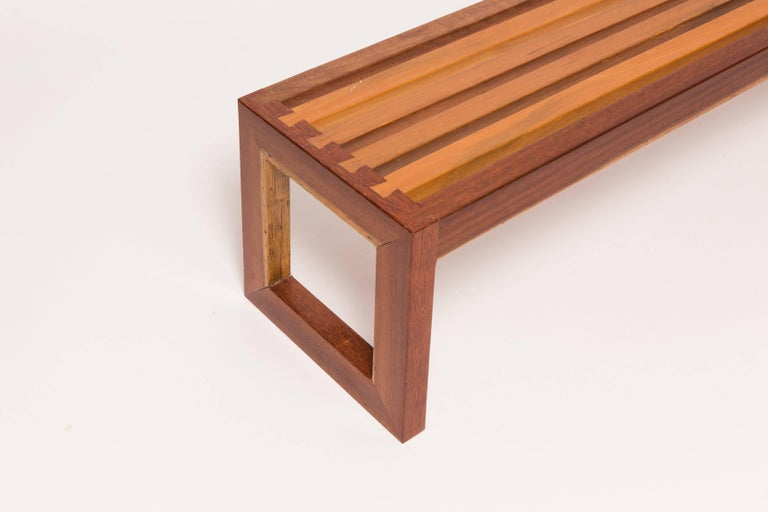 American Solid, Reclaimed Wood Bench with Dovetail Joinery For Sale