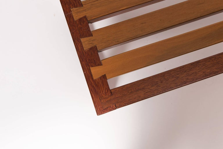 Solid, Reclaimed Wood Bench with Dovetail Joinery In Good Condition For Sale In New York, NY