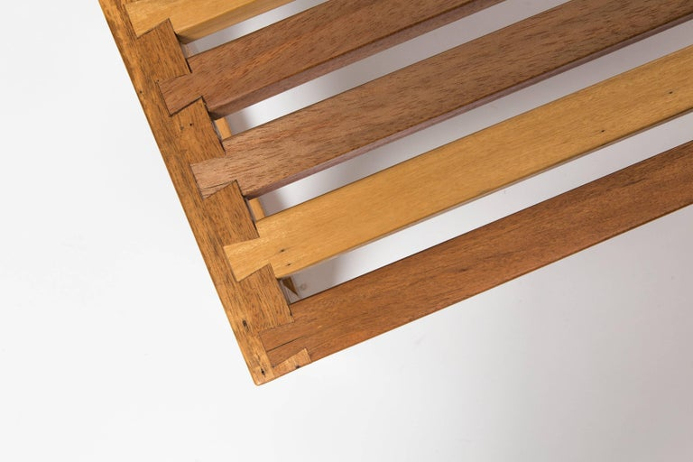 Solid, Reclaimed Wood Bench with Dovetail Joinery For Sale 1