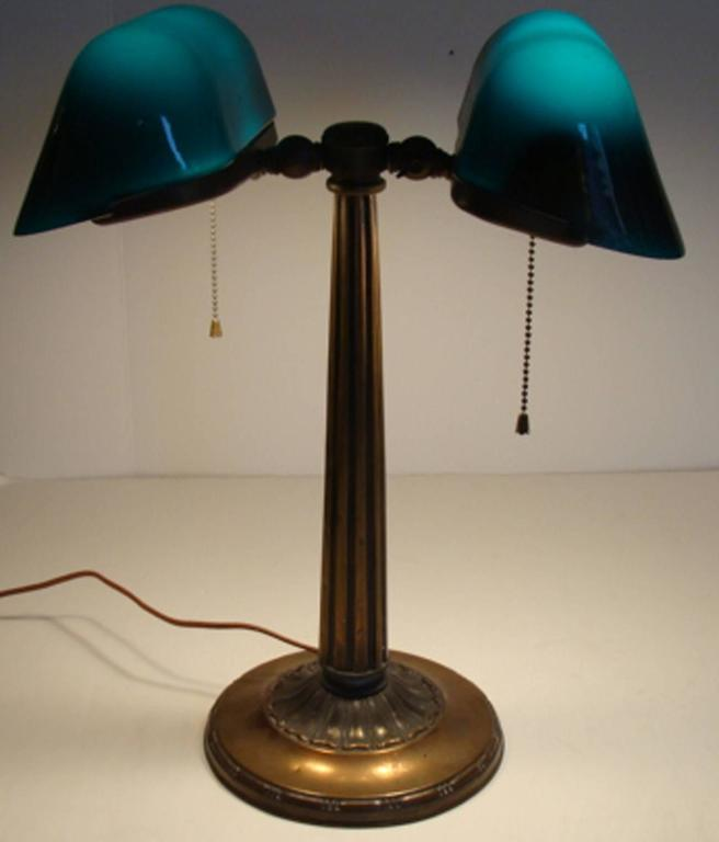 antique emeralite banker 39 s lamp at 1stdibs. Black Bedroom Furniture Sets. Home Design Ideas