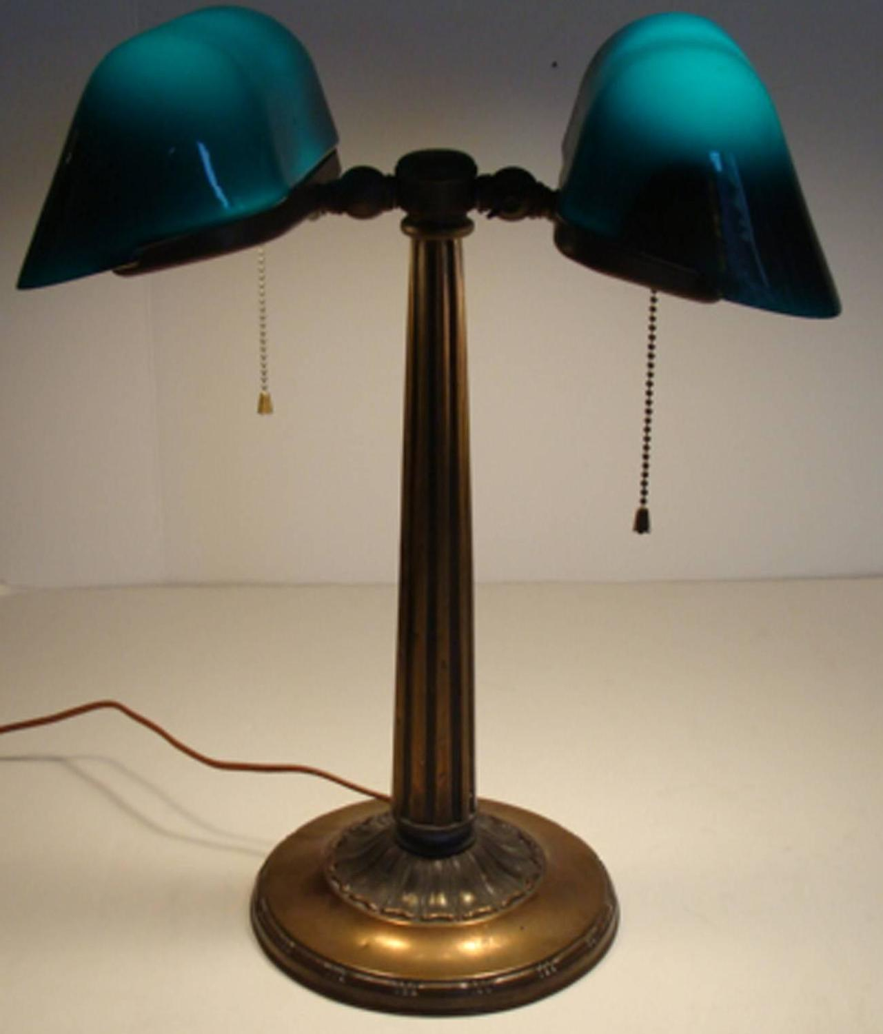Antique Emeralite Banker S Lamp For Sale At 1stdibs