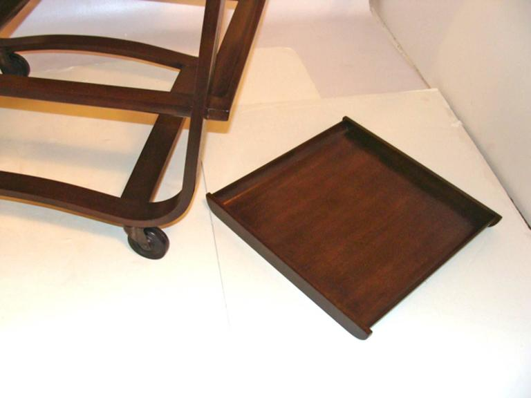 Edward Wormley Serving Cart for Dunbar In Excellent Condition For Sale In Lambertville, NJ