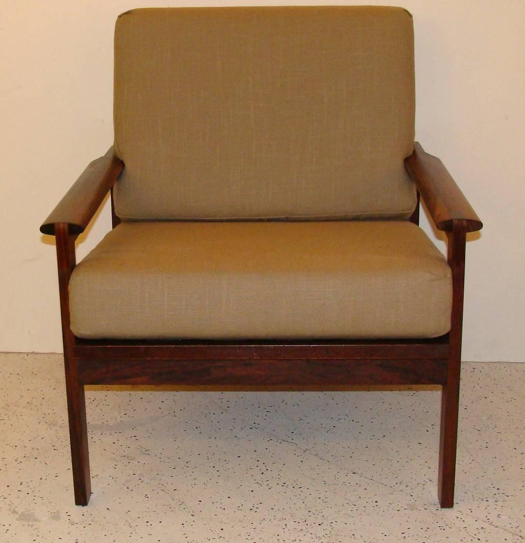 & Danish Rosewood Chair and Settee by Illum Wikkelsø For Sale at 1stdibs