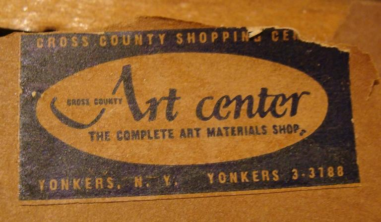 American Superb Mid-Century Watercolor 1 of 2 For Sale