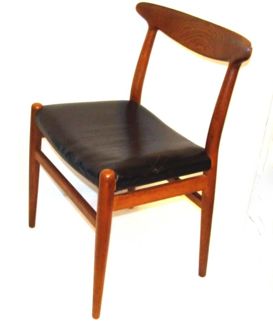 Set Of Four Vintage Hans Wegner W2 Chairs For Sale At 1stdibs