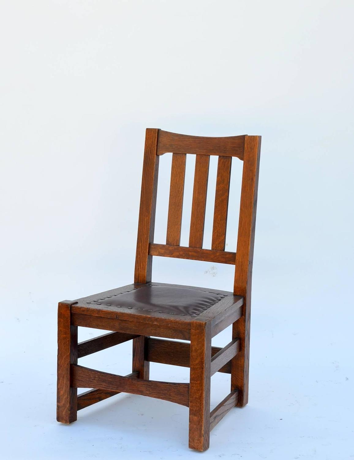 Original Mission Style Arts And Crafts Oak Chair By Stickley Brothers For Sale At 1stdibs