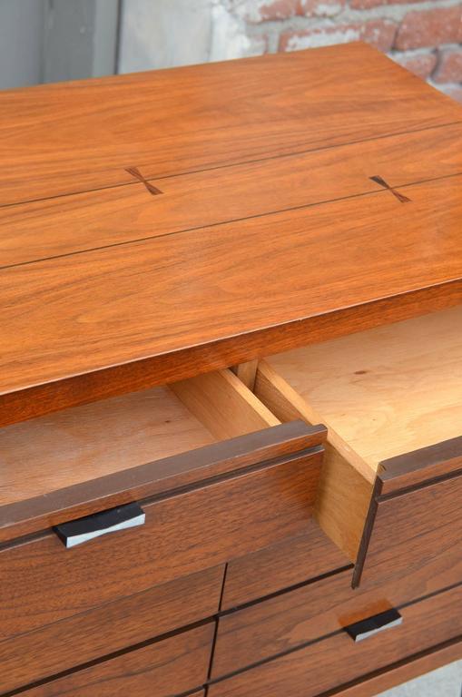 American Pristine Polished Walnut Dresser by Lane For Sale
