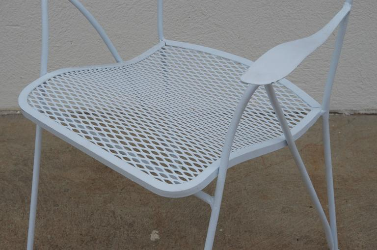 Mid-20th Century Set of Six Outdoor Indoor Dining Chairs by Maurizio Tempestini for Salterini For Sale