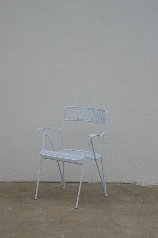 American Set of Six Outdoor Indoor Dining Chairs by Maurizio Tempestini for Salterini For Sale
