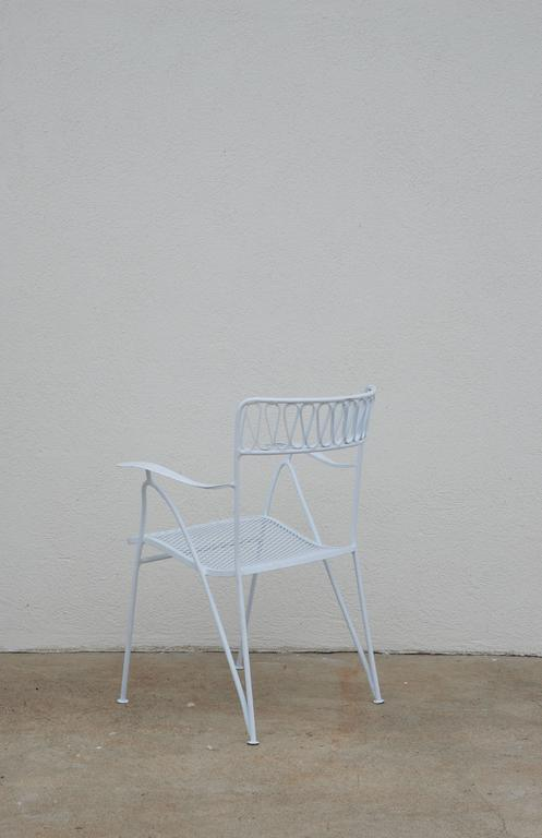 Set of Six Outdoor Indoor Dining Chairs by Maurizio Tempestini for Salterini In Excellent Condition For Sale In Los Angeles, CA