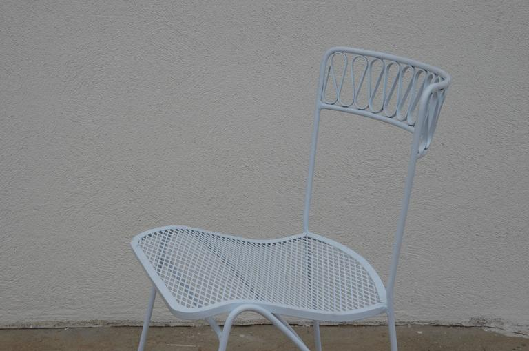 Set of Six Outdoor Indoor Dining Chairs by Maurizio Tempestini for Salterini For Sale 1