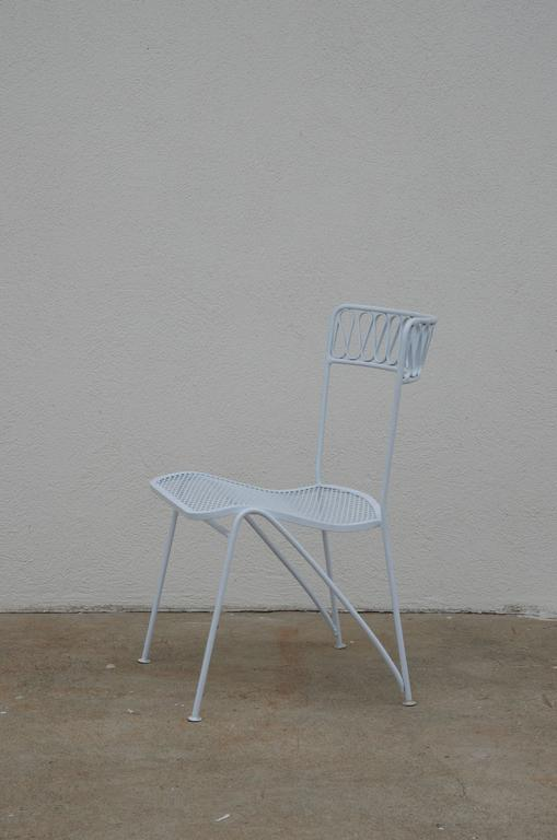 Mid-Century Modern Set of Six Outdoor Indoor Dining Chairs by Maurizio Tempestini for Salterini For Sale