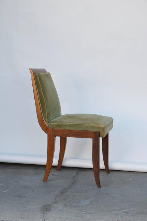 French Elegant Art Deco Mahogany Side Chair in the Style of Jean Pascaud For Sale