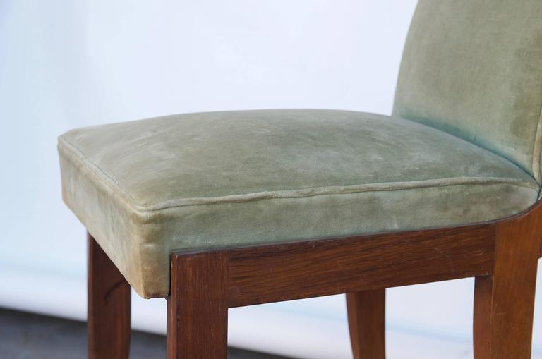 Mid-20th Century Elegant Art Deco Mahogany Side Chair in the Style of Jean Pascaud For Sale