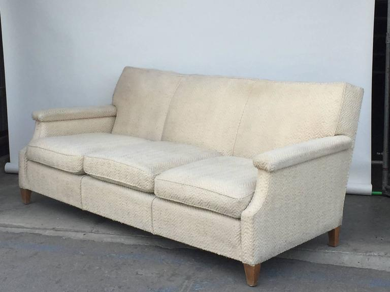Chic large French 1950s sofa by Maison Leleu, Paris.