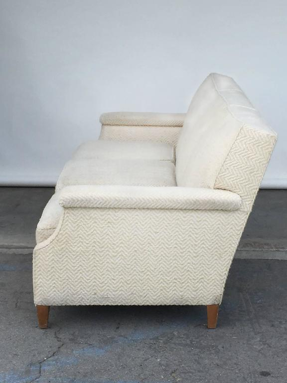 Modern Chic Large French 1950s Sofa by Maison Leleu For Sale