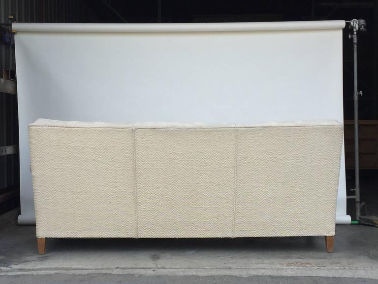 Chic Large French 1950s Sofa by Maison Leleu For Sale 1