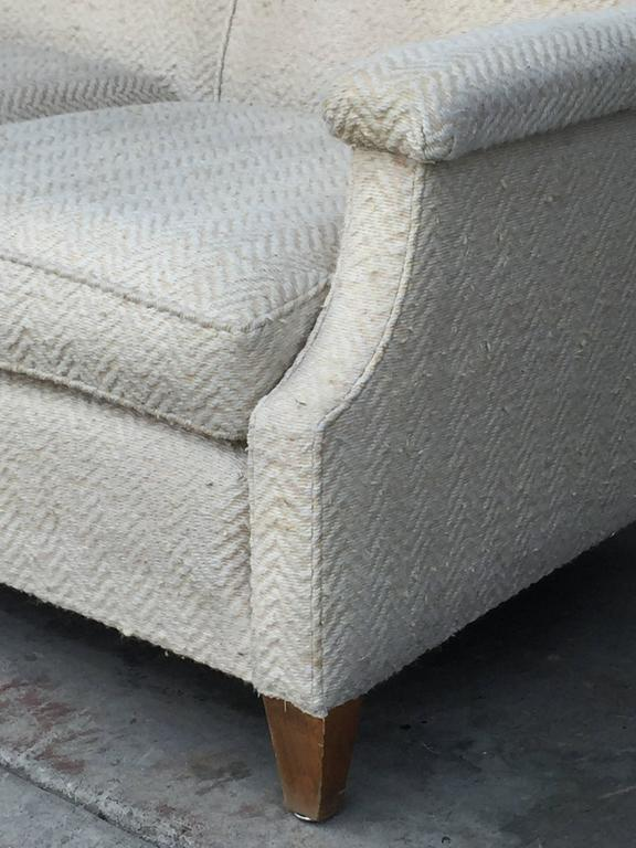 Mid-20th Century Chic Large French 1950s Sofa by Maison Leleu For Sale