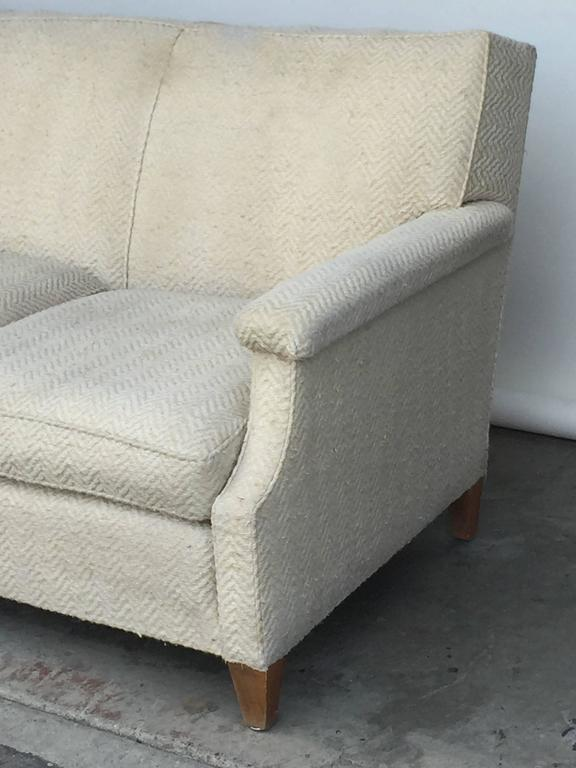 Chic Large French 1950s Sofa by Maison Leleu In Good Condition For Sale In Los Angeles, CA