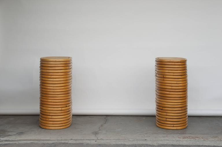 Pair of sturdy bamboo dining table bases in the style of for How to make a sturdy table base