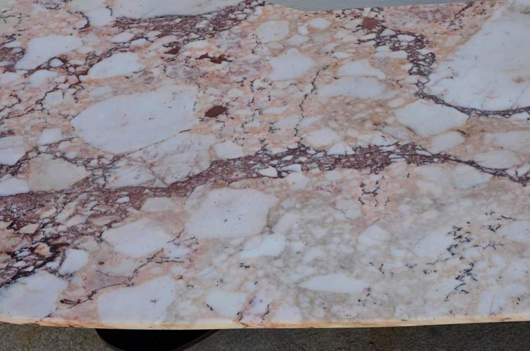 Sculptural Free-Form Marble Long Coffee Table 6