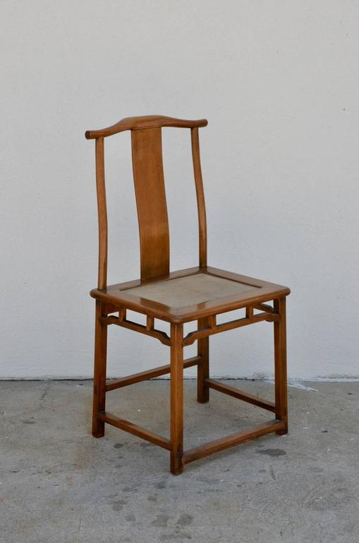 Elegant Antique Chinese Yoke Back Side Chair At 1stdibs