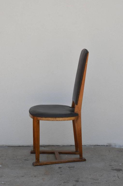 Slender Arts & Crafts Oak Side Chair 4
