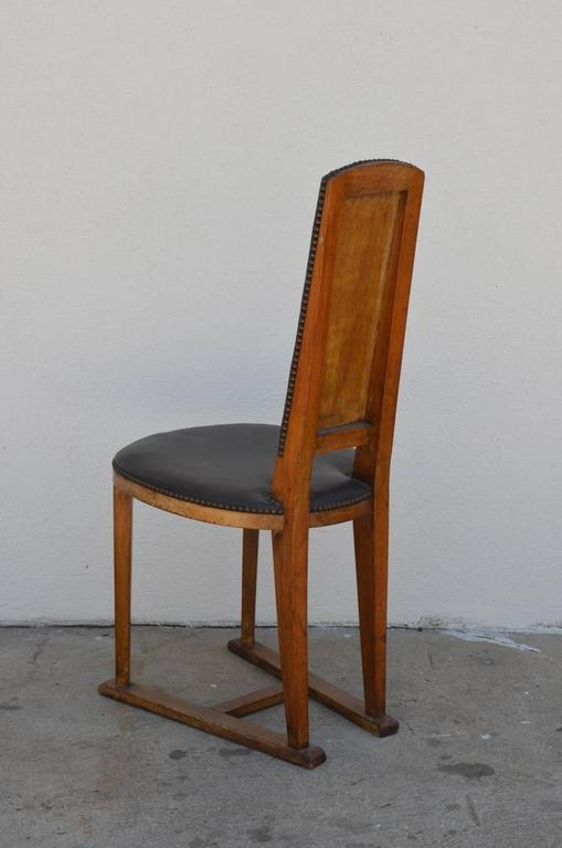 Slender Arts & Crafts Oak Side Chair 5