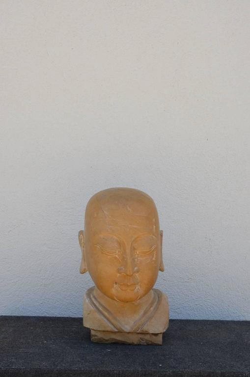 Large Carved Marble Head of the Buddha 3