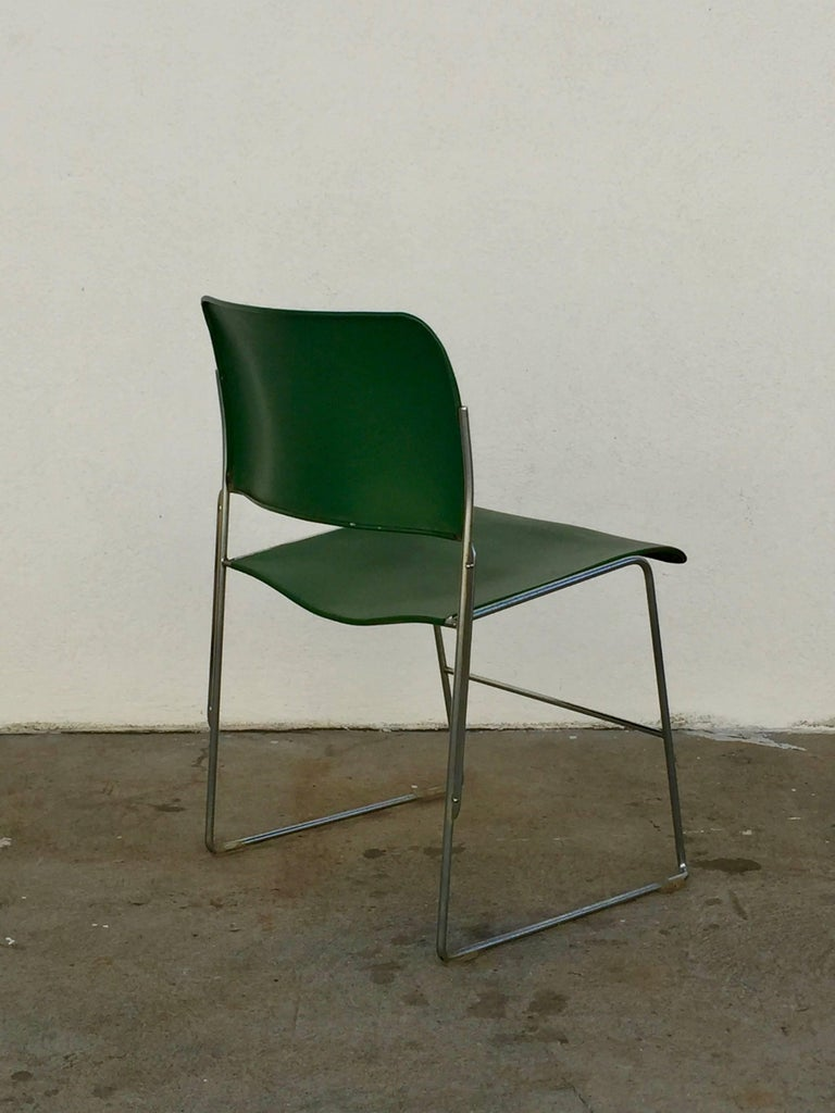 Set of 40/4 Green Chairs by David Rowland 5