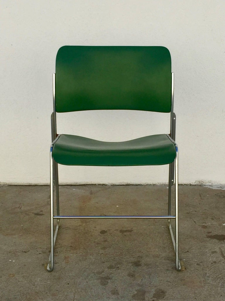 Set of 40/4 Green Chairs by David Rowland 3