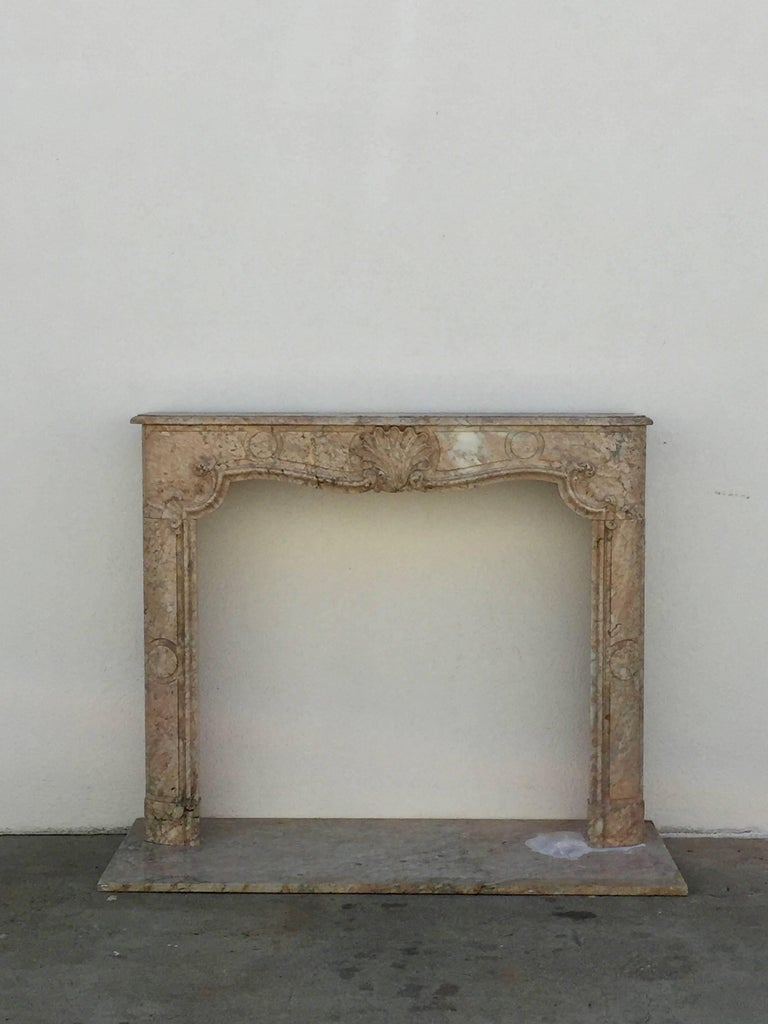 Stunning Louis XV French Marble Mantel.