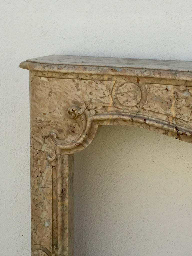 18th Century Stunning Louis XV French Marble Mantel For Sale