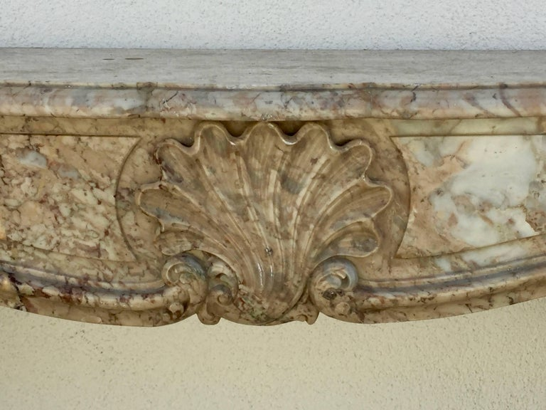 Stunning Louis XV French Marble Mantel For Sale 2