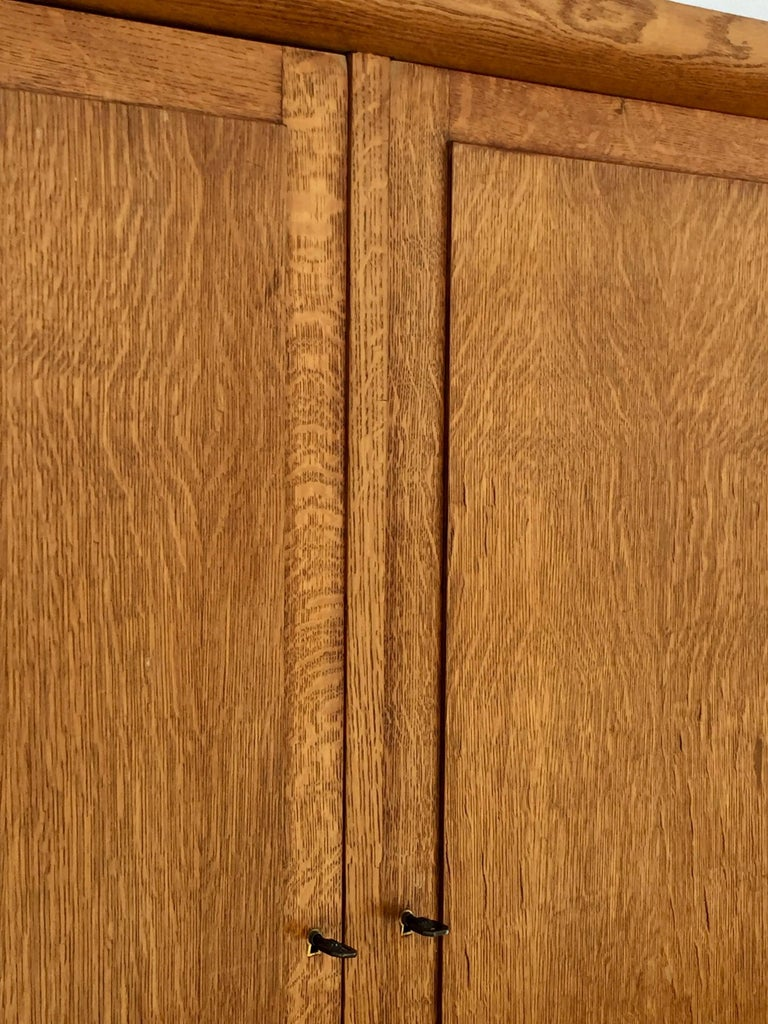 Incredible Polished Oak Low Armoire by Jacques Adnet 8
