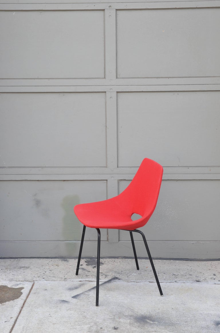 Modern Pair of Tonneau Chairs by Pierre Guariche For Sale
