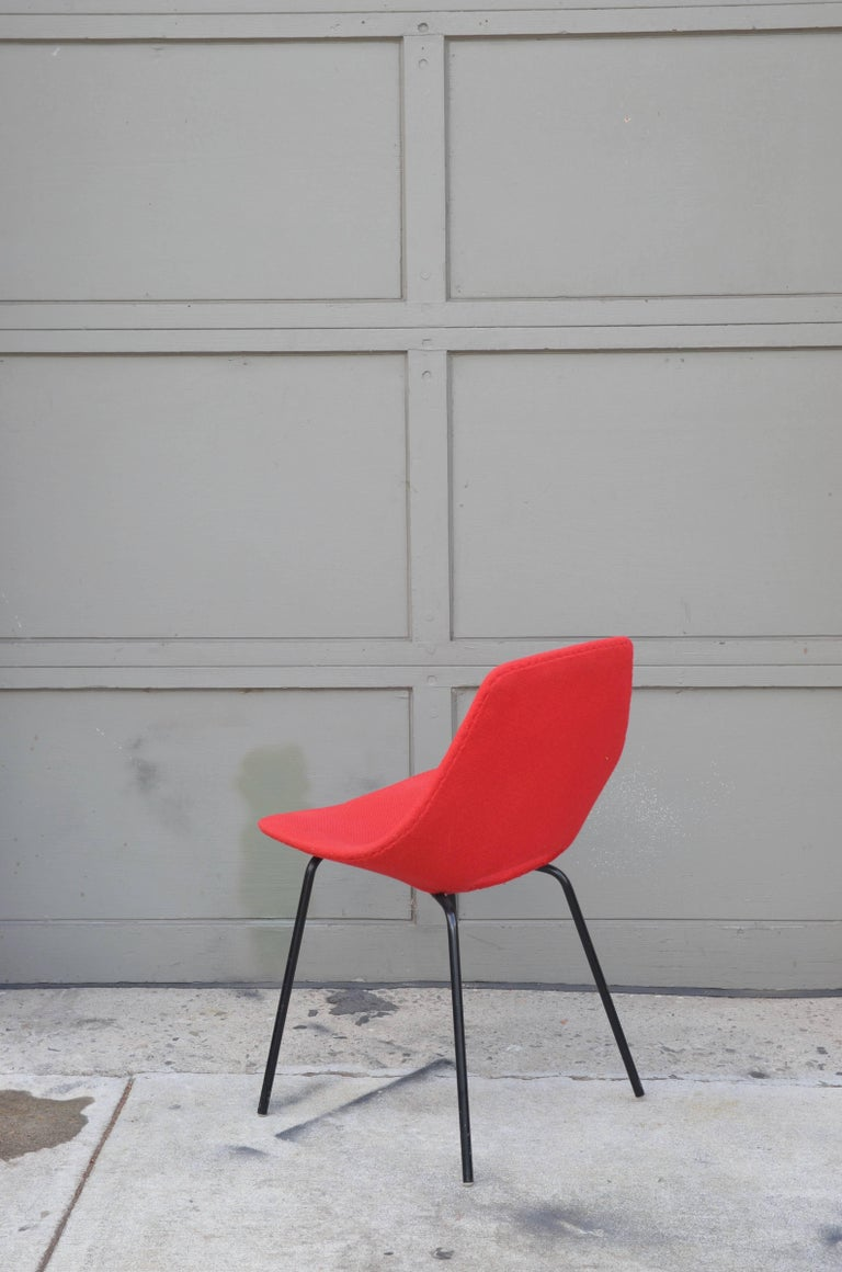 French Pair of Tonneau Chairs by Pierre Guariche For Sale