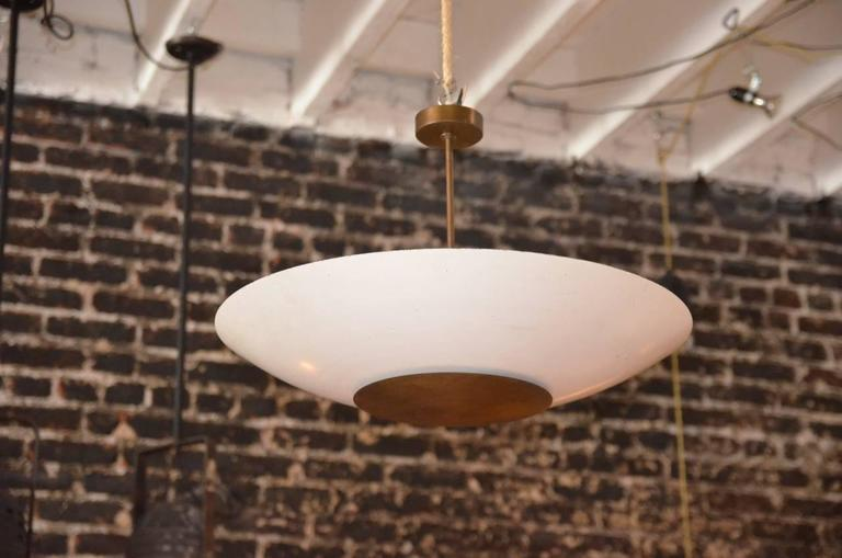 Large Mid Century Reflector Ceiling Light Fixture By Shaper Lighting Richmond Ca