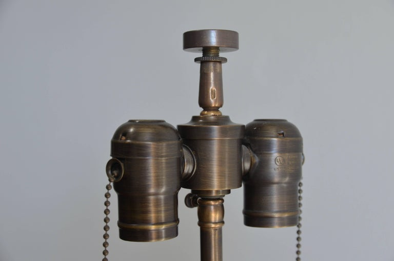 Large Studded Cylinder Table Lamp For Sale 2