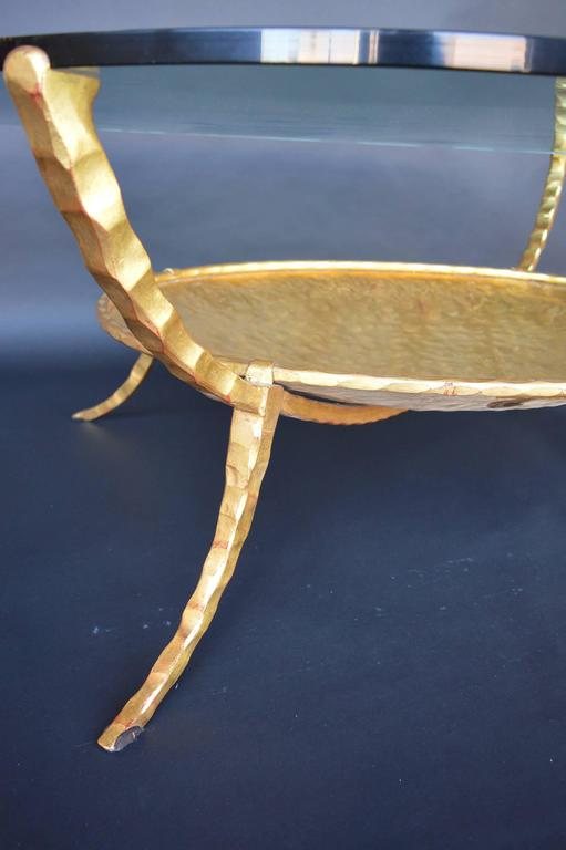 Gold Leaf Iron Coffee Table At 1stdibs